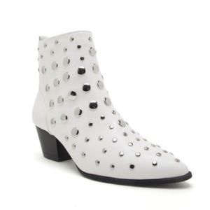 White studded booties!
